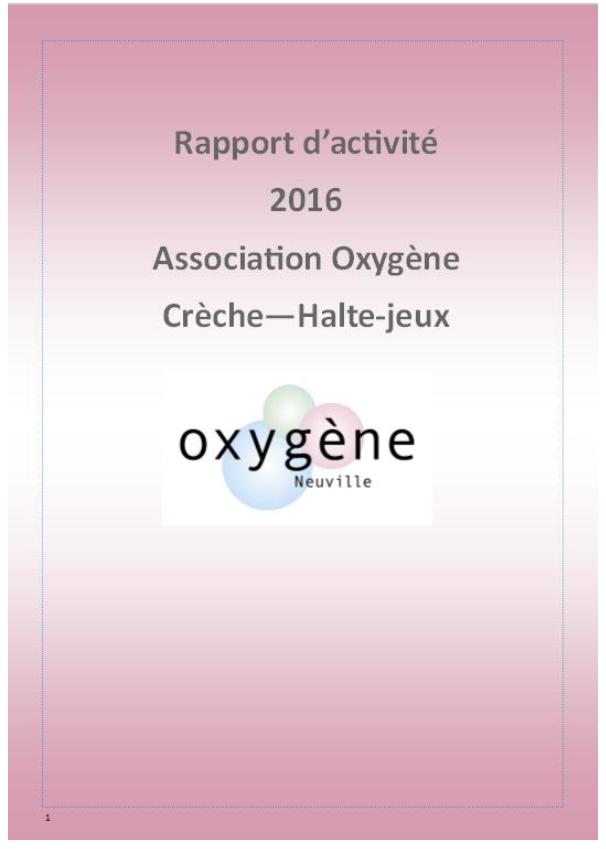 Rapport d'activité consultable après l'Assemblée Générale du 5 avril 2017
